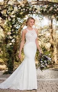 lace wedding dresses unique lace wedding gown essense With unique lace wedding dresses