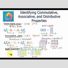 Identifying Commutative, Associative, And Distributive Properties Youtube