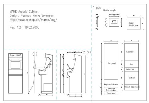 wood work arcade cabinet plans   plans