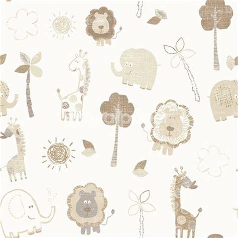 Childrens Animal Wallpaper Uk - debona zoo wallpaper in beige