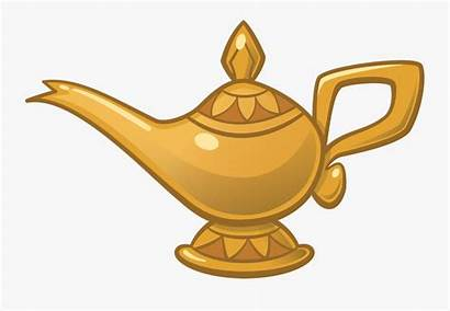 Genie Lamp Magic Aladdin Smoke Clipart Cartoon