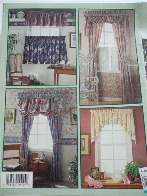 Sewing Patterns For Drapes - window treatments simplicity sewing pattern book curtains