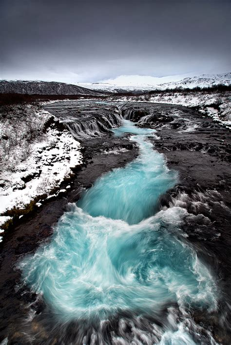 The Turquoise River Waterfall Iceland Waterfalls