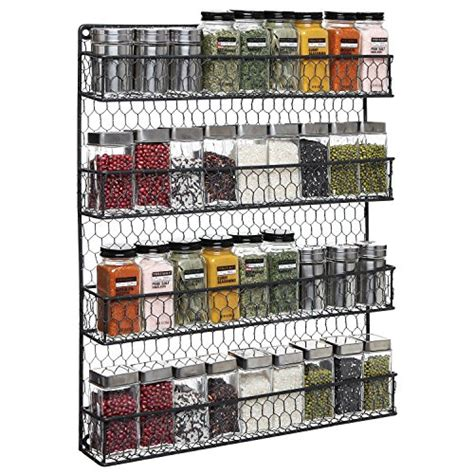 tier black country rustic chicken wire pantry cabinet