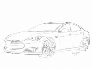 Kleurplaat Tesla Model X  U2022 Kidkleurplaat Nl