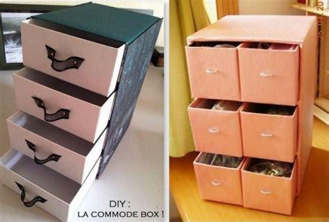 commode pour chambre idées pour recycler vos boîtes à chaussures et vos cartons