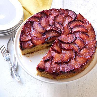 sticky plum upside  cake recipe