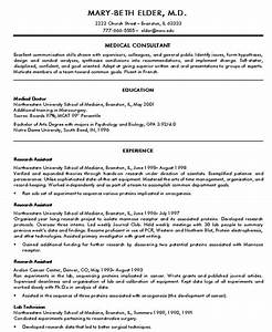 Doctor resume sample jennywasherecom for Doctor resume template