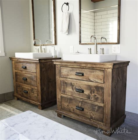bathroom vanity plans white rustic bathroom vanities diy projects