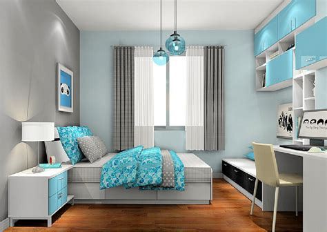gray and light blue bedroom download 3d house