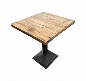 Table En Bois Carré : table d 39 appoint bistro restaurant ~ Teatrodelosmanantiales.com Idées de Décoration
