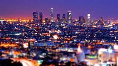 Night Lights Sky Angeles Los Tilt Shift