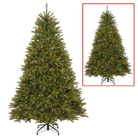 dunhill christmas tress home depot fir christimas trees national tree company 7 5 ft powerconnect dunhill artificial fir tree with dual color