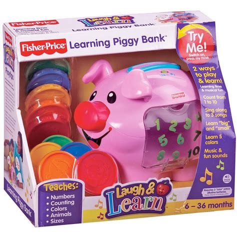 Fisher Price Laugh & Learn Learning Piggy Bank Music And