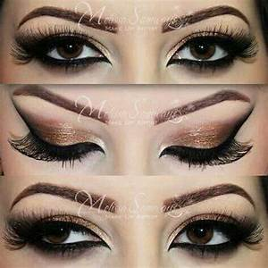 Gold eyeshadow for brown eyes | Make up | Pinterest ...