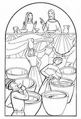 Cana Coloring Pages Colouring Jesus Getdrawings sketch template
