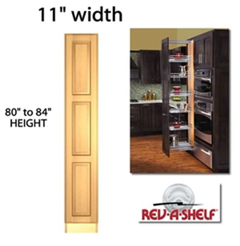 kitchen cabinet slide out pullout pantry cabinet 11 quot wide 5773 series 5773