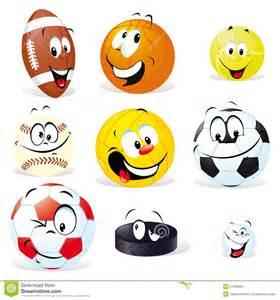 Cartoon Sports Balls
