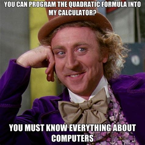 Quadratic Math Funny
