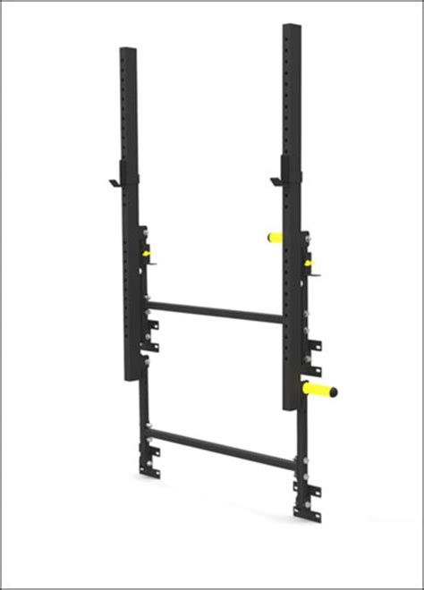 faster wall mounted folding power rack stored garage gyms