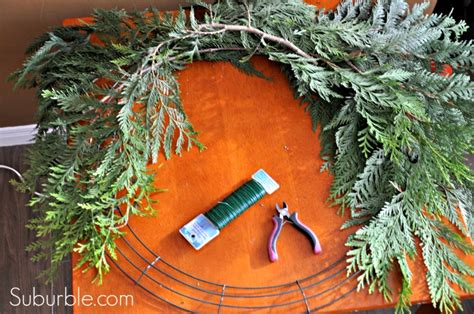 hometalk diy rustic cedar bough wreath