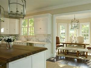 2 tone countertops transitional kitchen tracy morris With kitchen colors with white cabinets with gold lips wall art