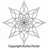 Medallion Sided Eight Karleeporter Coloring Mandala Quilting Karlee Tattoo Adult sketch template