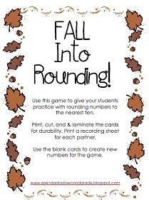 rounding activities images  grade math