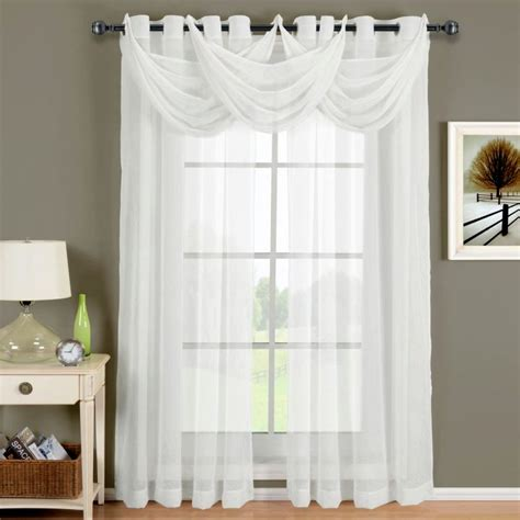 sheer curtains privacy with trio swag