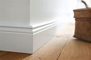 Fußleisten Weiß Holz : sockelleisten fu leisten online kaufen holzland neckarm hlbach ~ Markanthonyermac.com Haus und Dekorationen