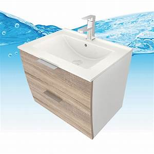 Waschtisch 50 X 40 : waschtisch mit waschbecken unterschrank gently 2 60cm wei eiche hell ~ Bigdaddyawards.com Haus und Dekorationen
