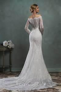 vintage lace sleeve wedding dress classic mermaid the shoulder vintage lace sleeve wedding dress