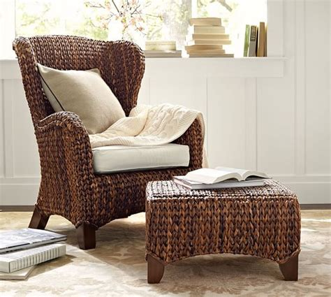 Seagrass Armchair by Seagrass Wingback Armchair Pottery Barn