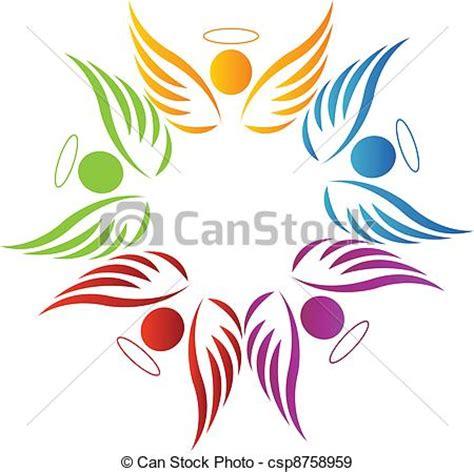 clipart angeli vettori eps di lavoro squadra angeli logotipocsp8758959