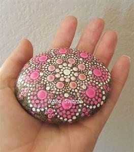 Handpainted, Mandala, Stone, Painted, Rocks, Mandala, Rock