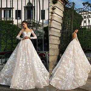 2019 Designer Fall New Long Sleeve Lace Wedding Dresses ...