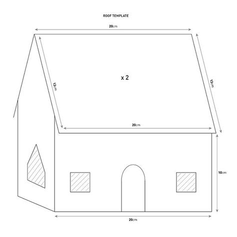 Gingerbread House Template Template Gingerbread House Template Mobileqrsolutions