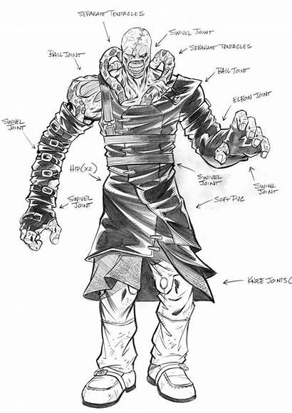 Resident Evil Nemesis Concept Drawing Coloring Drawings