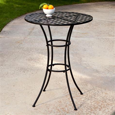 wrought iron patio table woodard wrought iron bar height bistro table patio