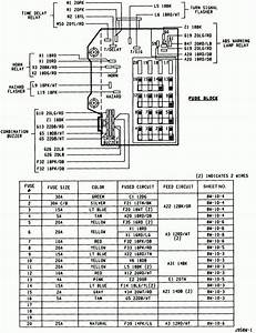 1996 Dakota Fuse Diagram