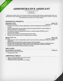 resume sles for executive assistant jobs administrative assistant resume sle resume genius