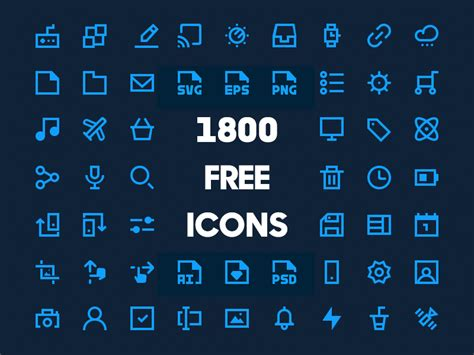 download free icon a set of 1800 icons sketch freebie download free
