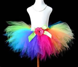 crochet headband for baby candy colorful rainbow pixie cut tutu skirt