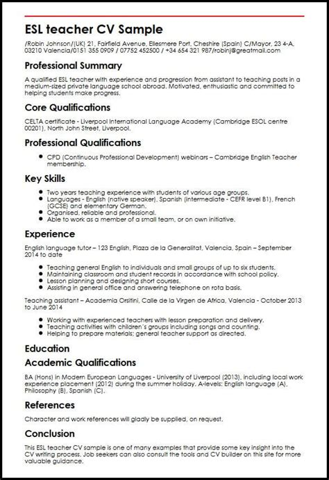 Esl Teacher Cv Sample  Myperfectcv. Resume Skills With No Experience. Cover Letter Examples Government. Resume Summary Length. Resume Help Wilmington Nc. Cover Letter Sample United Nations. Curriculum Vitae Pdf Moz. Letter Of Application Unknown Recipient. Curriculum Vitae Nuevo 2018