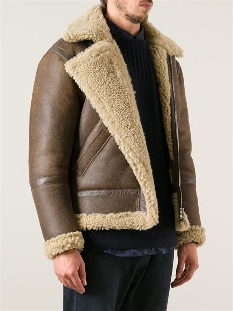 lyst acne studios ian shearling jacket  brown  men