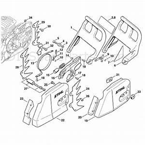 Stihl Ms 460 Chainsaw  Ms460 C  Parts Diagram  Chain Brake