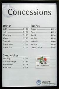 sample menus cake ideas and designs With concession stand menu template
