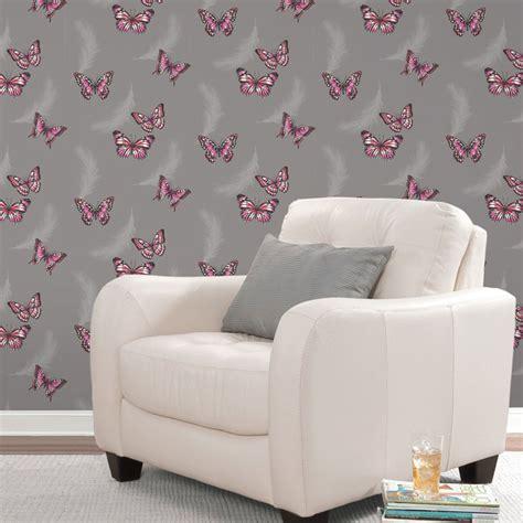 tapeten für mädchenzimmer m 228 dchen schlafzimmer schmetterling tapete in rosa wei 223 t 252 rkis mehr neu ebay