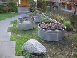 Metal Planters--Galvanized Raised Beds - Contemporary