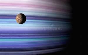 Grande Galassia E Pianeta Nel Profondo Spazio Con Un Cielo